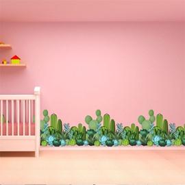 Vivid Cactus Pattern PVC Waterproof Living Room Kids Room Wall Sticker