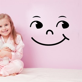 Smiling Face Pattern PVC Waterproof Home Decor Living Room Kids Room Wall Sticker