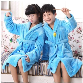 Coral Fleece Thicken Leisure Wear  Kids Robes