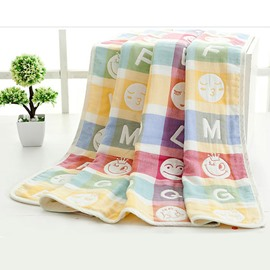 Lovely Smile Cotton Baby Kids Bath Towel