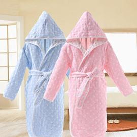 Cute Polka Dot Pattern Kids 100% Cotton Bath Robe