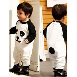 Lovely Long Sleeve Panda Design 100% Cotton Baby and Kids Pajama