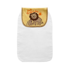 8*13in Lions Printed Cotton White Baby Sweatband/Towel