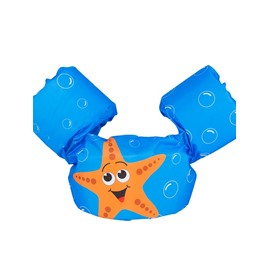 Float Starfish Pattern Non-Woven Fabrics Blue Kids Swimwear