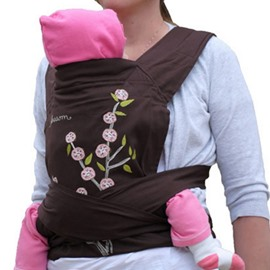 Plum Blossom Pattern Simple Style Cotton Brown Baby Carrier