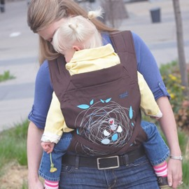 Birds Nest Pattern Simple Style Cotton Brown Baby Carrier