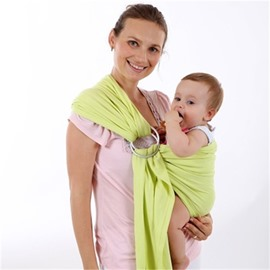 Adjustable Loop Pure Color Simple Style Cotton 1-Piece Baby Carrier