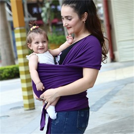 Adjustable Pure Color Simple Cotton 1-Piece Baby Carrier