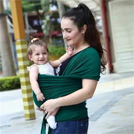Adjustable Pure Color Simple Style Cotton 1-Piece Baby Carrier