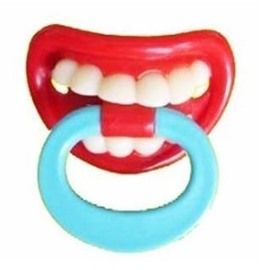 New Arrival Unique in Design Funny Pacifiers with Ringer