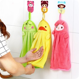 Animal Shape Super Bibulous Soft Coral Fleece Towels