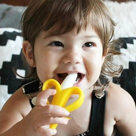 Banana Shape Food-grade Silica Gel Kids Chewy Toy