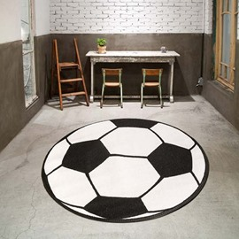 Soccer Pattern Round Shape Polyester Baby Play Floor Mat/Crawling Pad