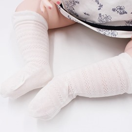 Nordic Style Cotton and Spandex Pure Color Baby Stocking