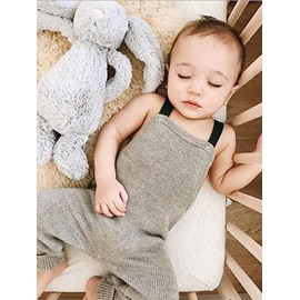 Cotton Classic Style Gray 1-Piece Sleeveless Bodysuit
