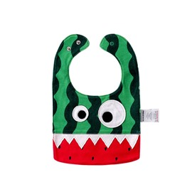 10.23*7.09in Eyes Decoration Watermelon Cotton Baby Bib
