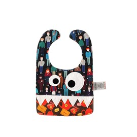 10.23*7.09in Eyes Decoration Cartoon Printed Cute Cotton Blue Baby Bib