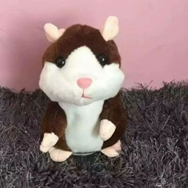 Talking Hamster Repeats What You Say Electronic Pet Talking Plush Toy
