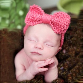 Big Bowknots Decoration Yarn 1-Piece Baby Hair Band