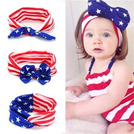 The Stars and The Stripes Cotton Simple 1-Piece Hair Band