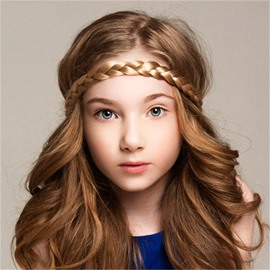 Artificial Leather Wig Multi-Color Kids Hair Band