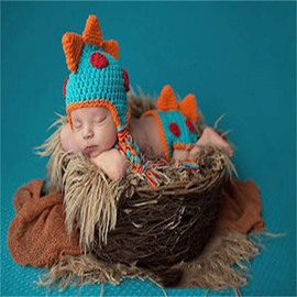 Little Dinosaur Shaped Yarn Blue Baby Costume