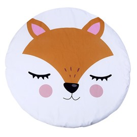 Fox Pattern Rounded Cotton Baby Play Floor Mat/Crawling Pad