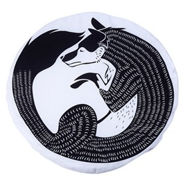 Wolf Pattern Rounded Cotton Baby Play Floor Mat/Crawling Pad