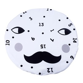 Clock Pattern Rounded Cotton Baby Play Floor Mat/Crawling Pad