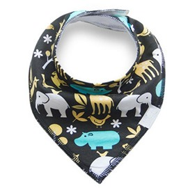 12*12in Elephants Printed Simple Style Cotton Baby Bib