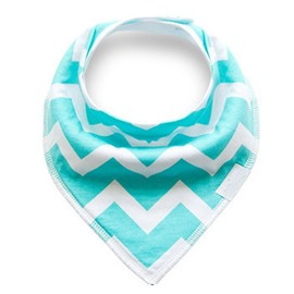 12*12in Blue Waves Pattern Simple Style Cotton Baby Bib