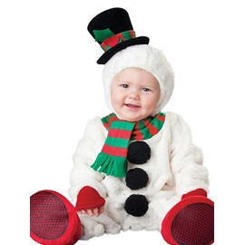 Christmas Snowman Shaped Hat Decoration Polyester White Baby Costume
