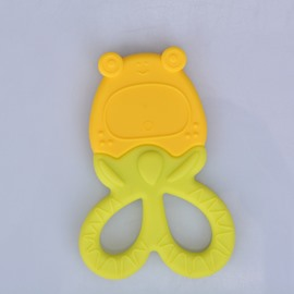 Silicone Frog Shaped Soothing Multi-Color Baby Teething Toy