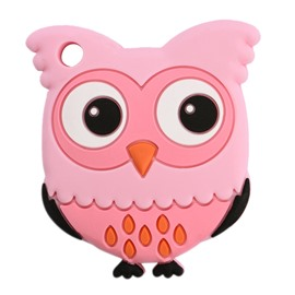Silicone Standing Owl Shaped Soothing Baby Teething Toy/Teether