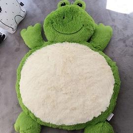 Frog Shaped Cotton Green Baby Play Floor Mat/Crawling Pad