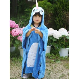 Decoration Cartoon Unicorn Cotton Yarn Baby Bathrobe