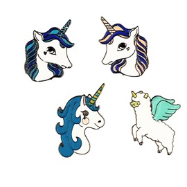 Decoration a Series of Unicorn Pattern Baby Badge