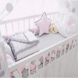 Simple Style Multicolour Long Strip Knot Ball Children's Crib Decoration