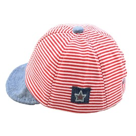 Multi-Color Cotton Material Sunhat Smart Strip Pattern Kids Hat