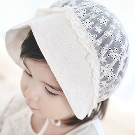 For Infant Cotton Material Lace Decor Baby Hat