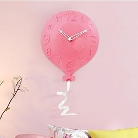 Cute Balloon Shape 4 Color Kids Room Decor Wall Clock