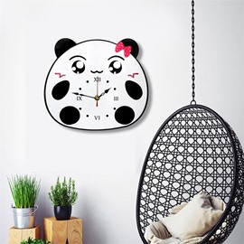 Environment Friendly Cute Cartoon Bear Pattern Acrylic Kids Room Decor Mute Wall Clock