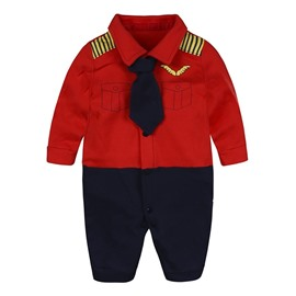 Red And Black Long Sleeve Cotton Material Fastener Infant Jumpsuit/ Baby Bodysuit