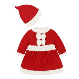 Newborn Toddler Baby Girls Christmas Thick Outfit Romper Bodysuit