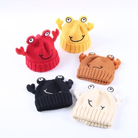 Cute Crab Domed Knitted Brimless Hemming Winter Baby Hat