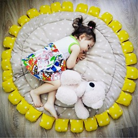 Sun Flower Pattern Handwork Cotton Soft Baby Play Floor Mat/Crawling Pad