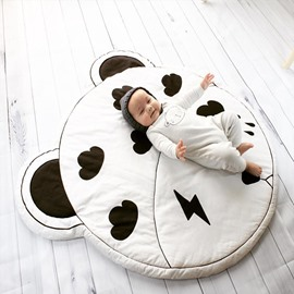 Small Cloud Pattern Grey Round Cotton Soft Baby Play Floor Mat/Crawling Pad