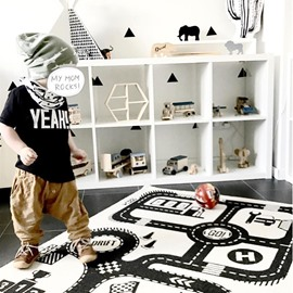 Highway Pattern Cotton Soft Baby Play Floor Mat/Crawling Pad