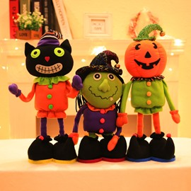 3 Pattern Cute Cartoon Halloween Pattern Kids Retractable Doll