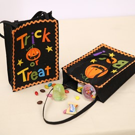 2 Pattern Special Halloween Decor Kids Cartoon Cloth Material Gift Bag